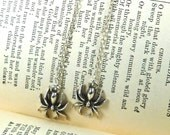 Dangling Spider Earrings silver plated