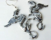 Gryphon Griffin Earrings SP