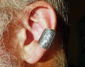 Ear Cuff Large Black and Silver Filigree Goth Earcuff Unisex