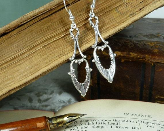 Fancy Drop Earrings silver