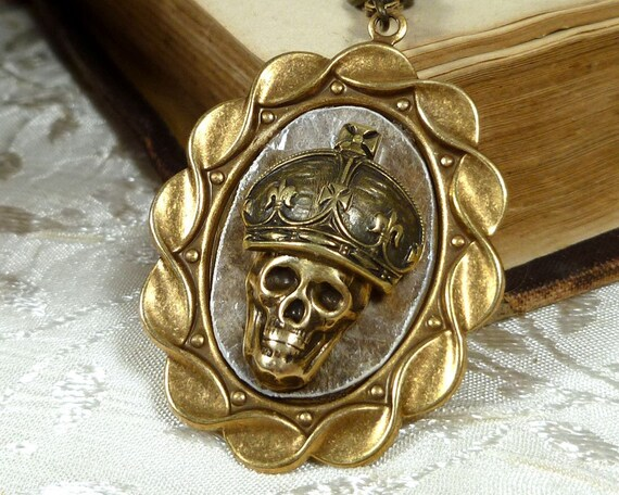 Pirate King Skull Necklace Pirate Jewelry Jolly Roger