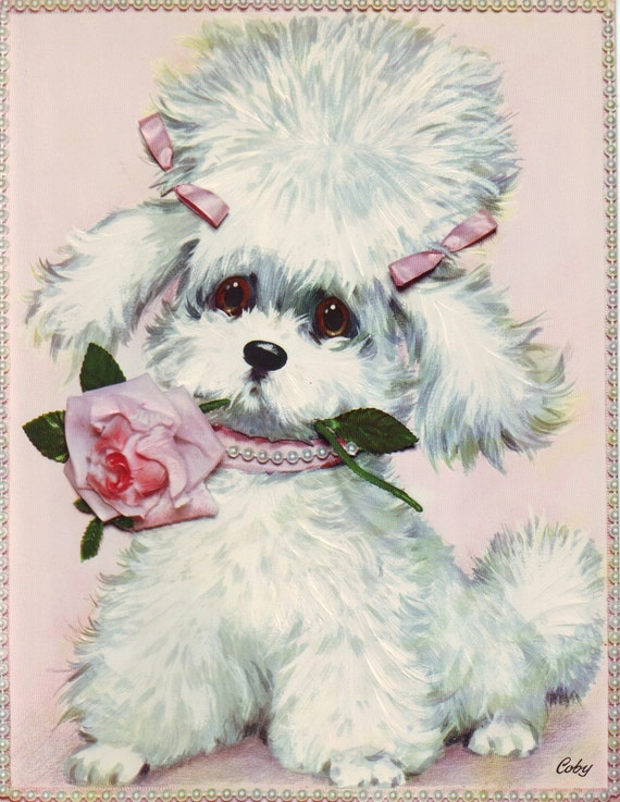Vintage 70s Get Well Soon Card Unused Featuring Adorable