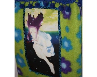 Underwater Animae Girl Handmade Fleece Bag