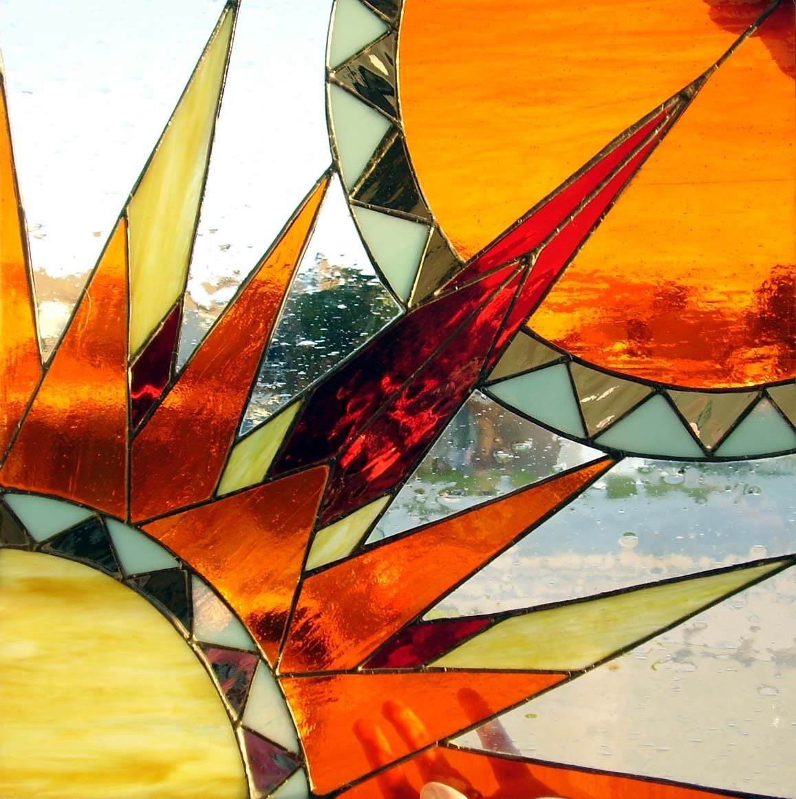 Stained Glass Art Panelsouthwest Sun By Danceswithmonsters