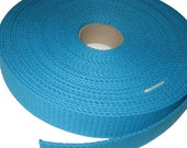 Turquoise Blue Heavy Duty Cotton Webbing 1.25 Inch - By The Yard