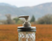 Half Pint Size Quilted Mason Jar Soap Dispenser