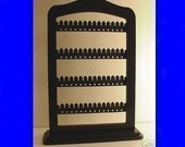 jewelry rack ON SALE ! Jewellery stand,  display, Earring  holder , BLACK wood with stand base