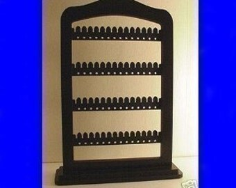 jewelry rack organizer Jewellery stand,  display, Earring  holder , BLACK wood with stand base