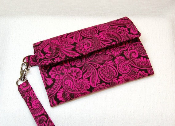 Ready to Ship Wristlet Cell Phone Wallet  by Shawna Lane Designs
