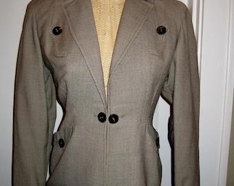 40s Brown Tweed Jacket - Great Tailoring