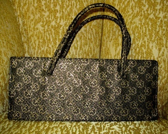 Black & Gold Brocade Evening Bag