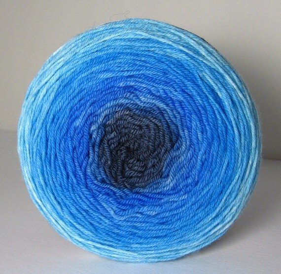 Sock Garden Party Cake - Hand Painted Tonal Yarn - Got the Blues