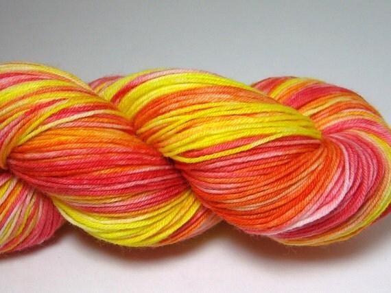 Sock Garden - Handpainted Yarn - Lemon Yellows and Orange