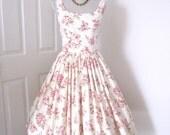 Rose 1960s Vintage Style Tea Dress Fabulously Feminine Bridesmaids Proms Garden Party