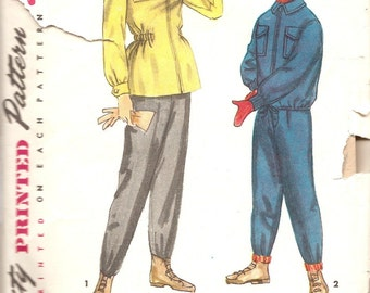 1940's 40's Vintage Sewing Pattern Kids Ski Pants Jacket Simplicity S24 Girls Boys size 10