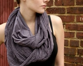 Shredded Circle Scarf with Hood Lilac -Many Ways to Wear - Made to Order