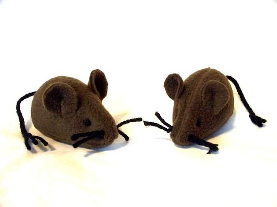 Plush Catnip Mouse - Brown