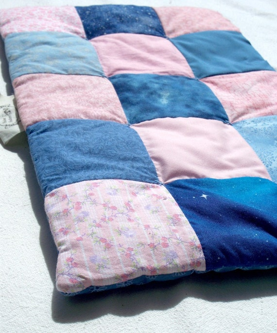 Pet Carrier Quilt - Small- Pink and Blue