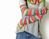 Retro Stripe Sleeves Sport Tunic (Reserved)