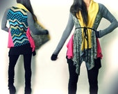 Raglan Scarf Quilted Tunic
