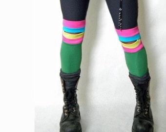 Speed Racer  Knee  Color Patch  Sport Leggings
