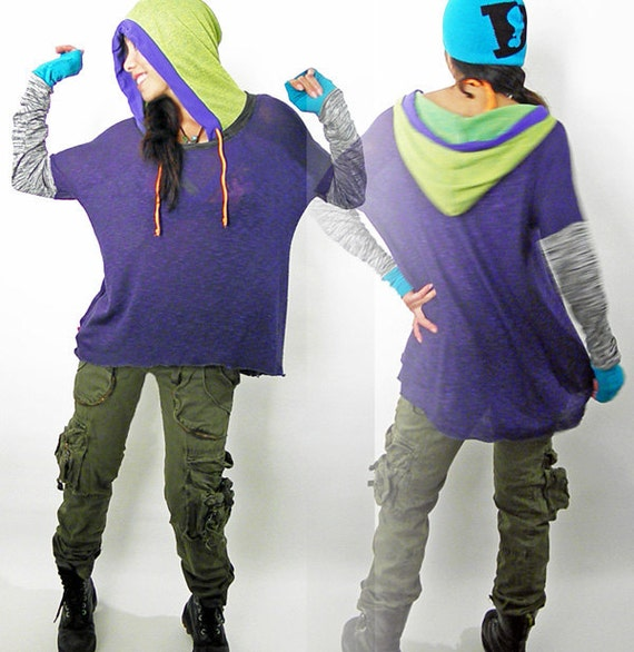 Purple Dance Hoody Sport Tunic