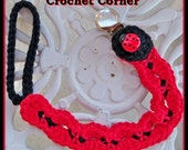 Lady Bug Pacifier/Toy Holder