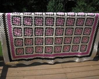 Raspberry Sundae Handmade Afghan Heirloom Quality FREE SHIPPING