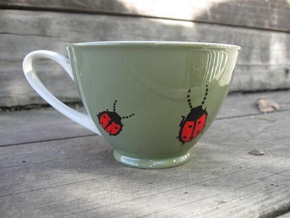 Sale - Ladybugs teacup