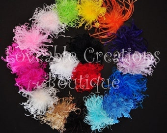NEW COLORS You pick Curly Ostrich Puff Free Shipping On All Additional Items