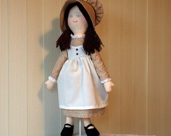 Holly Hobbie Doll, Brown Dress and Bonnet