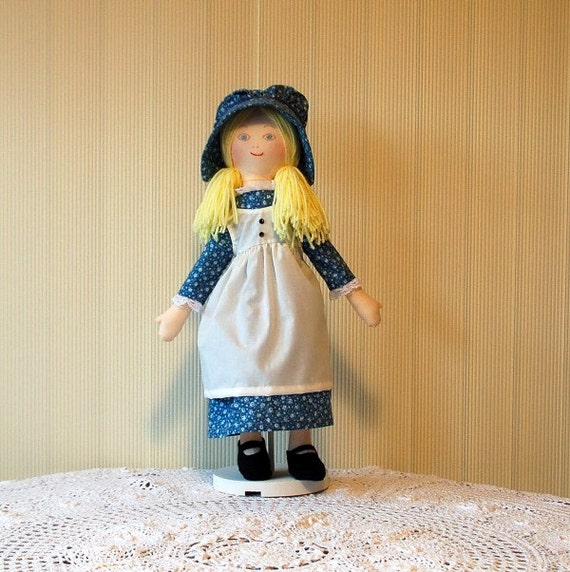 Holly Hobbie Doll, Dark Blue Dress and Bonnet
