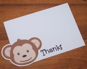 Monkey Party - Set of 8 Mod Monkey Thank You Cards by The Birthday House