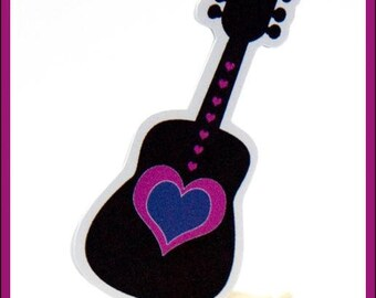 Girls Rock Party - Set of 12 Heart Guitar Toppers by The Birthday House