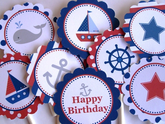 Nautical Party Decorations Printable Party Rounds 8