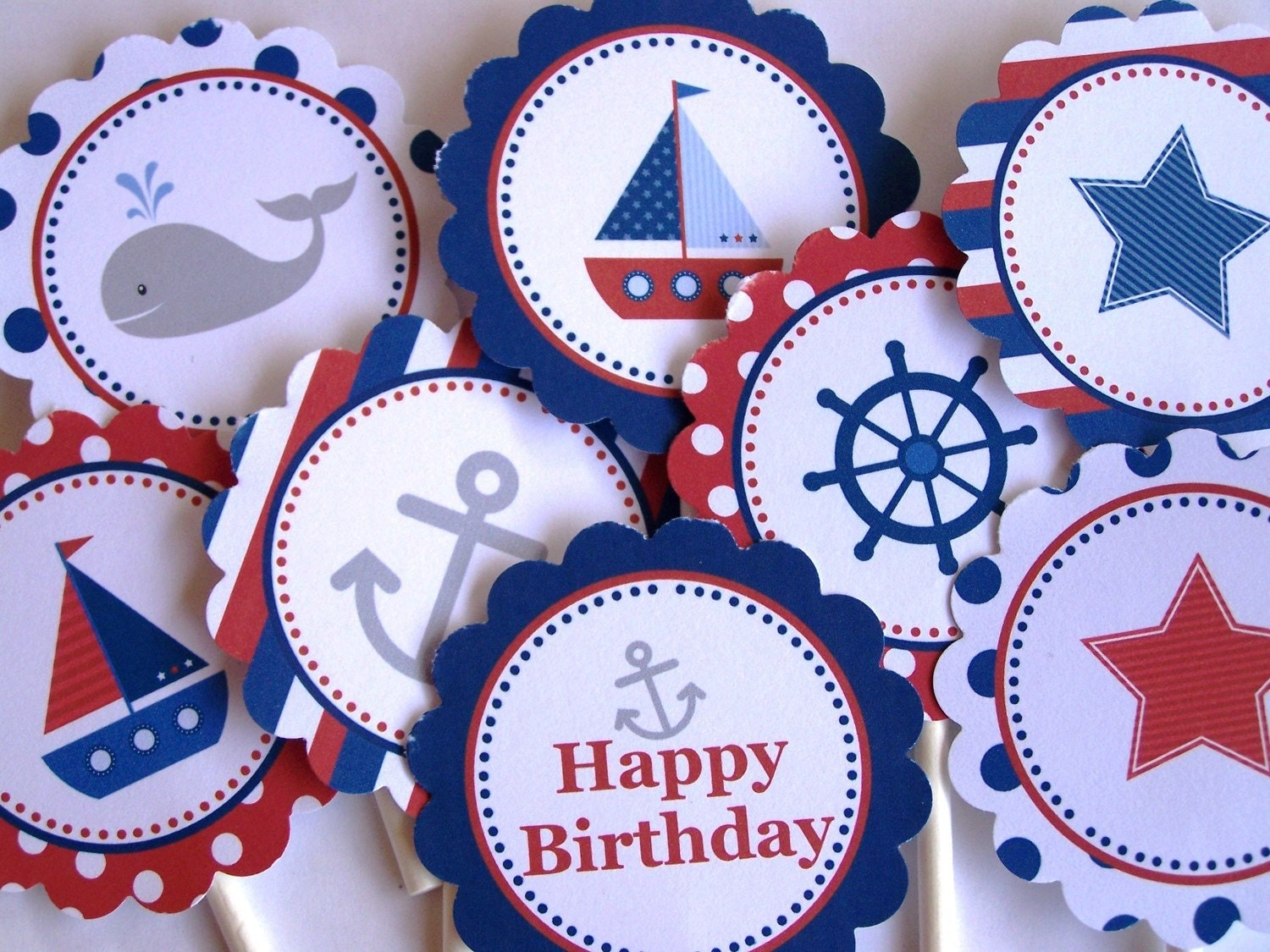 Nautical Party Decorations Printable Party by TheBirthdayHouse