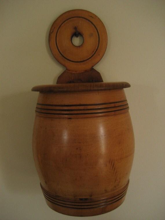 Antique Wood Salt Box