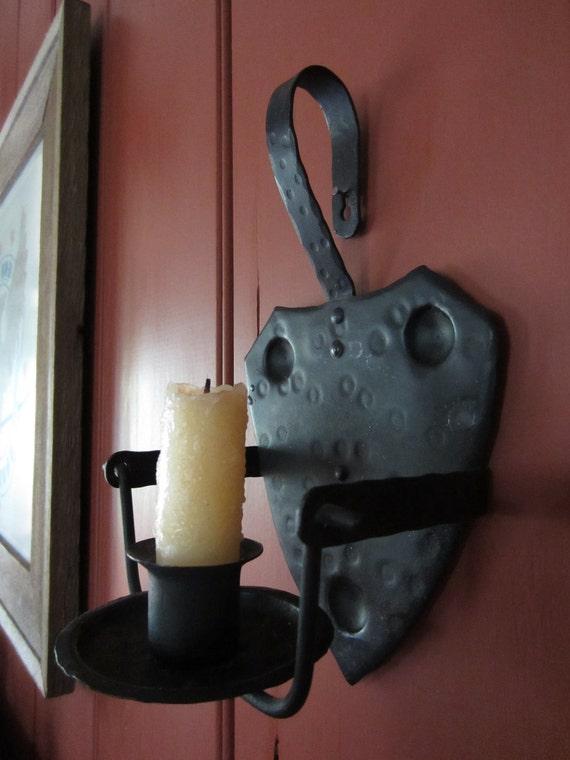 Vintage lighting tin candle holder