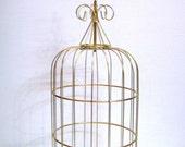 "Vintage Gold Tone Bird Cage Top 18"""