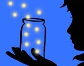 Jar of FireFlies 5 x 7 Art Print