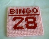 Bingo Coaster - 1 ea (choice of color, choice of number)