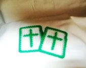 Cross in my Pocket, Set of 2 in Emerald Green