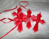 Plastic Canvas Crosses, Set of 4 in Red