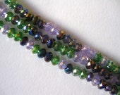 spring violets rondelles, ID1445