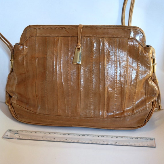 Vintage Eel Skin Purse Shoulder Bag Or Cross Body