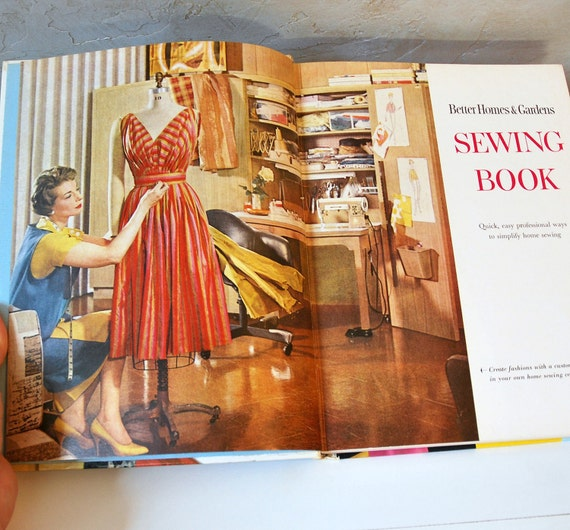 1961 Illustrated Sewing Book - Better Homes and Gardens - Vivid Illustrations