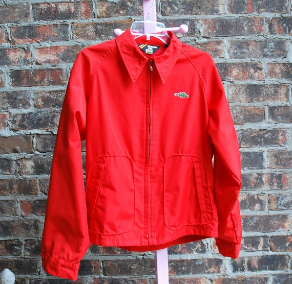 80's Men's Jacket with Dragon by Sears Outerwear