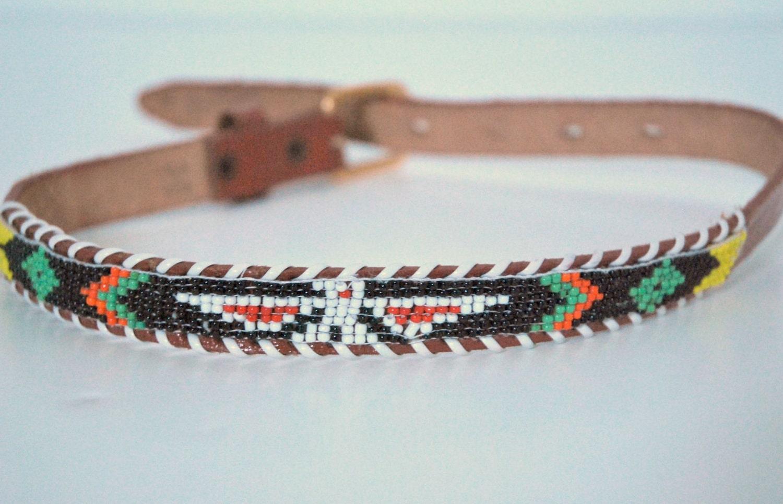 child s southwestern belt beaded navajo style vintage 25