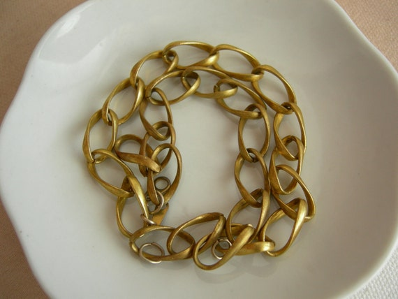 Simple Natural Brass Chain Bracelet Sections