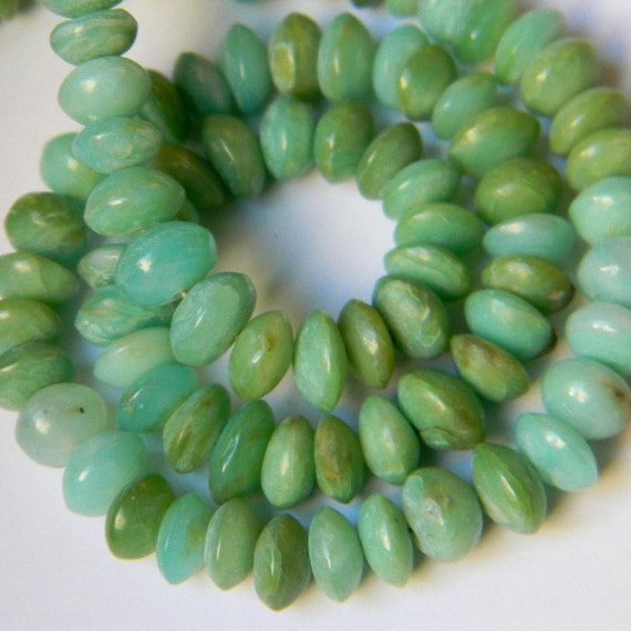 Genuine Opal 6MM Smooth Polished Rondells --- 26 Stones - Half Strand - Semiprecious Stones - Beads - Gemstone Beads